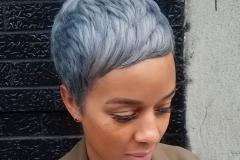 Pretty Pixie Haircuts and Silver Hair Color in Atlanta by Dee at The Cherry Blossom Salon