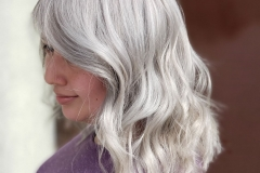 Platinum Blonde and Gray Hair Color in Atlanta by Dee at The Cherry Blossom Salon