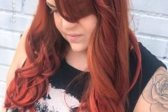Bright Copper Hair in Atlanta by Jessica at The Cherry Blossom Salon