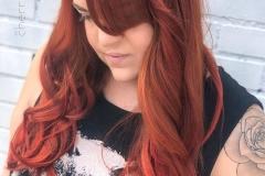 Bright Copper Hair in Atlanta by Jessica at The Cherry Blossom Salon