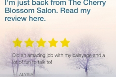 Reviews of Atlanta Hair Stylist Jessica at The Cherry Blossom Salon