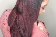 Brunette Violet Hair Melt in Atlanta by Jessica at The Cherry Blossom Salon