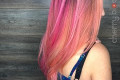 Peach and Pink Pastel Hair Color in Atlanta by Jessica at The Cherry Blossom Salon