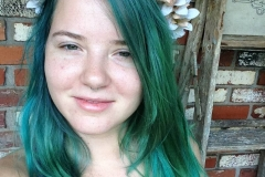 Vivid Green Hair Color in Atlanta by Keirsta at The Cherry Blossom Salon