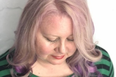 Pretty Soft Pink Hair Color in Atlanta by Keirsta at The Cherry Blossom Salon