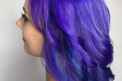 Vivid Bright Purple Hair in Atlanta by Keirsta at The Cherry Blossom Salon