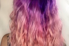 Pink and Purple Vivid Hair Color in Atlanta by Keirsta at The Cherry Blossom Salon