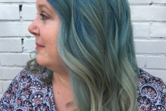 Mermaid Hair, Blue and Green Hair Color in Atlanta by Keirsta at The Cherry Blossom Salon