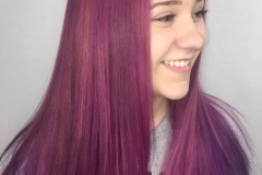 Plum Vivid Hair Color in Atlanta by Keirsta at The Cherry Blossom Salon