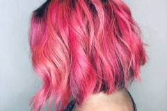 Bright Pink Vivid Hair Color in Atlanta by Keirsta at The Cherry Blossom Salon