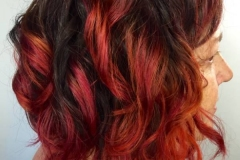 Red Hair Color in Atlanta by Keirsta at The Cherry Blossom Salon