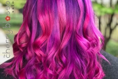 Bright Purple and Pink Vivid Hair Color in Atlanta by Kevin at The Cherry Blossom Salon