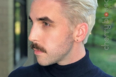 Men's Platinum Hair Color and Cuts in Atlanta by Kevin at The Cherry Blossom Salon