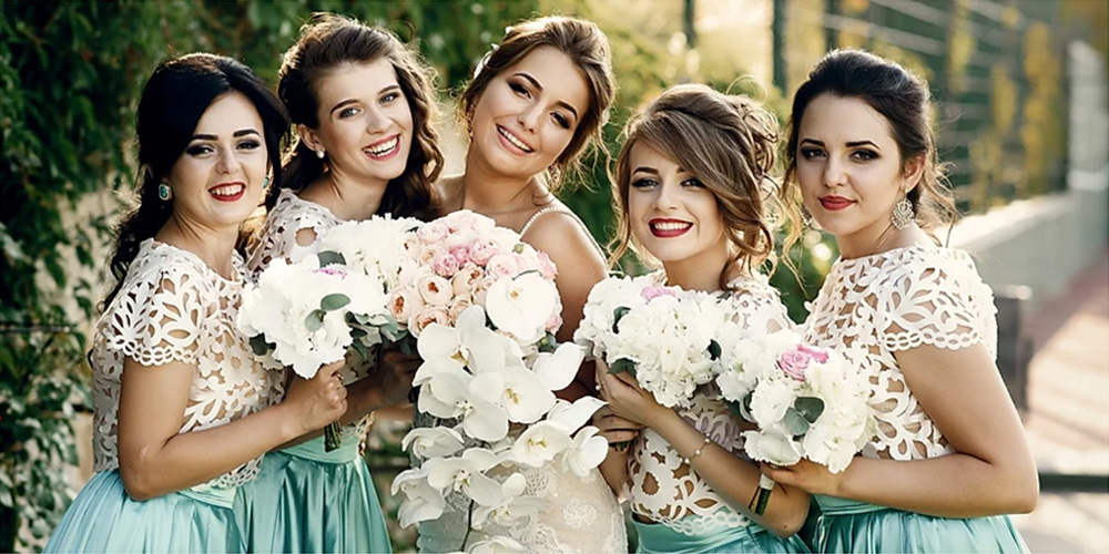Atlanta wedding bridal party hair and makeup packages