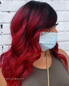 Vivid Red Sew In Hair Extensions