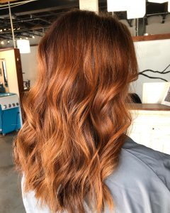 Copper Balayage with Root Melt