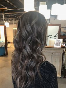 Brunette Highlights with Root Melt