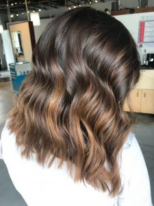 Milk Chocolate Balayage Lob
