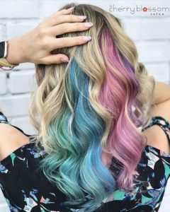 Rainbow Pastel Hair Color